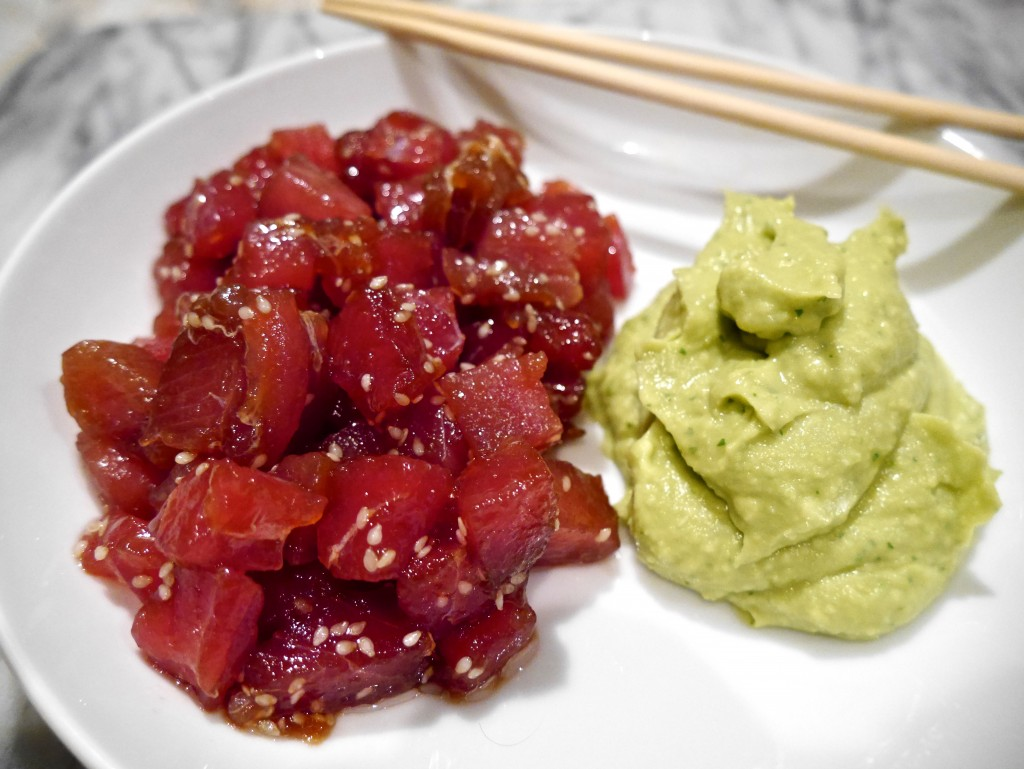 Tuna Tartare with Avocado Cream · Andrea's Passions